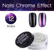 Nails Chrome Effect 12 RHEA