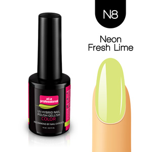 Lakier Hybrydowy UV&LED COLOR a.t.a professional nr N8 15ml - NEON FRESH LIME