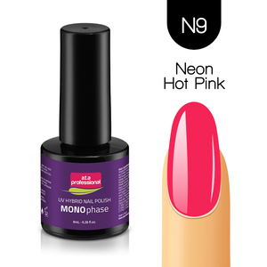 LAKIER HYBRYDOWY MONOPHASE a.t.a professional 8ML NR N9 NEON HOT PINK