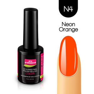 Lakier Hybrydowy UV&LED COLOR a.t.a professional nr N4 15 ml - NEON ORANGE