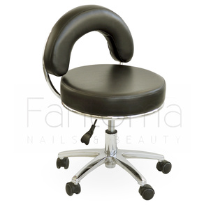 Taboret obrotowy MARK Pedicure BLACK