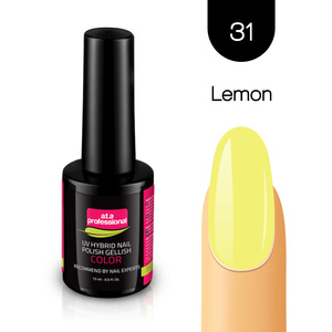 Lakier Hybrydowy UV&LED COLOR a.t.a professional  nr 31 15 ml - LEMON