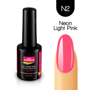 Lakier Hybrydowy UV&LED COLOR a.t.a professional nr N2 15 ml - NEON LIGHT PINK