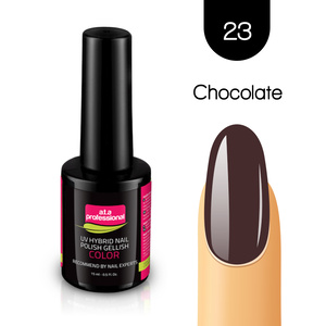 Lakier Hybrydowy UV&LED COLOR a.t.a professional nr 23 15 ml - CHOCOLATE