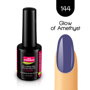 Lakier Hybrydowy UV&LED COLOR a.t.a professional nr 144 15 ml - GLOW OF AMETHYST