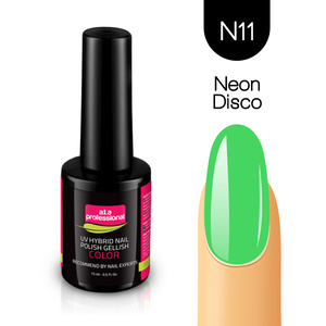 Lakier Hybrydowy UV&LED COLOR a.t.a professional nr N11 15 ml - NEON DISCO