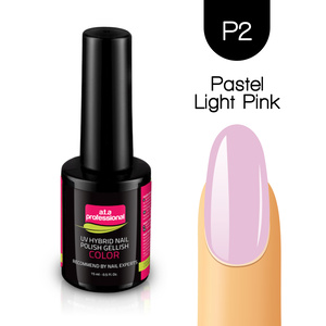 Lakier Hybrydowy UV&LED COLOR a.t.a professional nr P2 15 ml - PASTEL LIGHT PINK