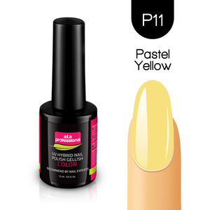 Lakier Hybrydowy UV&LED COLOR a.t.a professional nr P11 15 ml -  PASTEL YELLOW